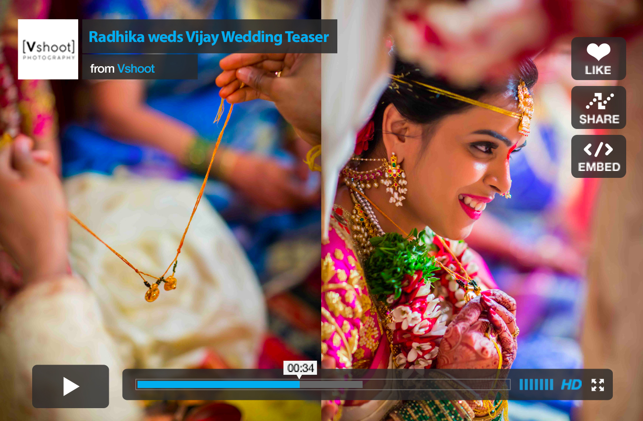 vshoot candid indian wedding teaser
